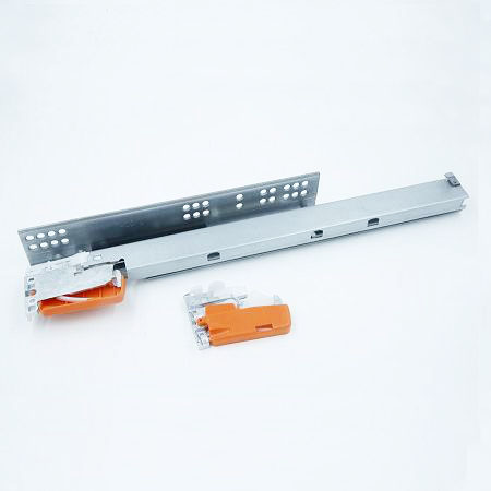 Two fold undermount drawer slide with plastic clip, China supplier